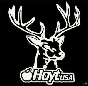 Hoyt USA deer hunting logo vinyl decal sticker