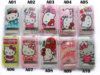 Hello kitty Rhinestone Bling Case Skin for HTC EVO 4G