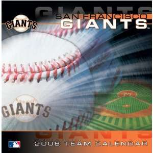 SAN FRANCISCO GIANTS 2008 MLB Daily Desk 5 x 5 BOX CALENDAR