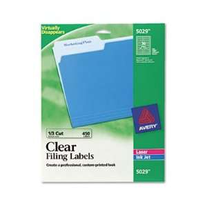 Avery Clear File Folder Labels AVE5029