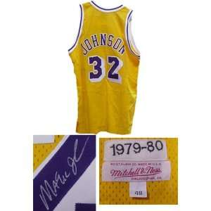 Autographed Magic Johnson Lakers Jersey