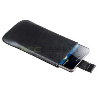 Pull Up Leather Pouch Case Cover For Samsung Galaxy S2 II i9100