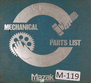 Mazak Mechanical Part List Quick Turn 8 Machine Manual