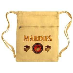 Messenger Bag Sack Pack Yellow Marines United States Marine Corps Seal