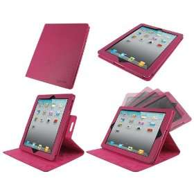 rooCASE Dual View Multi Angle (Magenta) Genuine Leather