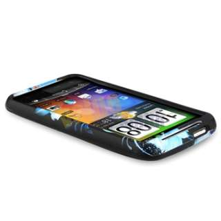 For HTC Inspire 4G Flower Hard Case Cover+Privacy LCD+Charger New