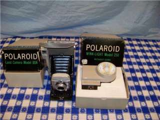 Vintage Polaroid Land Camera Model 80A w/ 250 WINK LITE