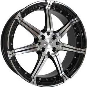 Kyowa 518 18x7.5 Machined Black Wheel / Rim 4x100 & 4x4.5 with a 42mm