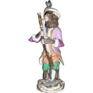 Meissen hand painted Munkey Band Sculpture entitled