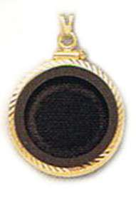bezel with Onyx insert for 1/10 Canadian Maple Leaf gold coin