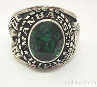 STERLING SILVER MANHASSET HIGH SCHOOL CLASS RING