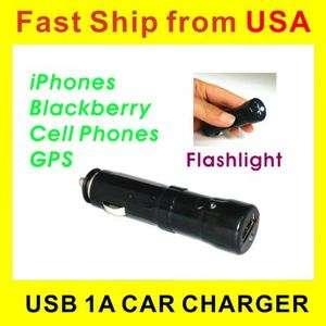 Flashlight w/ USB Car Charger iPod iPhone 3 4 GPS