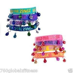 Zumba Make Some Noise Jingle Rubber Bracelet Bracelets with Bells