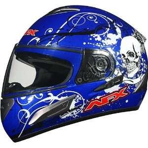 AFX FX 100 Full Face Motorcycle Helmet w/Inner Shield Blue