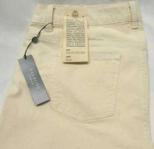 TALBOTS $95 JEANS IVORY OFF WHITE 5 POCKET STRETCH BOOT CUT PANTS 10