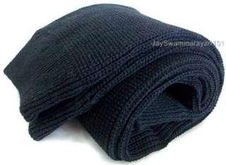 Womens Girls Knit Long Leg Warmers Stretchy Black 24 636227100447