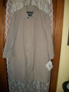 MENS LONDON FOG TRENCH RAIN COAT ULTIMATE BALMACAAN NWTS 240.00