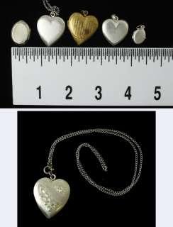 Lot of 5 Antique Sterling Silver & GF Heart Pendants/Lockets