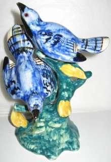 Stangl Pottery Birds, Double Blue Birds