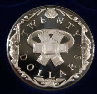 islands silver $ 20 dollars coin the treasure coins of the caribbean