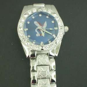 SILVER BLUE FACE PLAY BOY BUNY HIP HOP WATCH WATCHES
