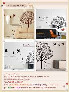LINDEN TREE BIG Graphic Vinyl Wall Decals Deco Sticker
