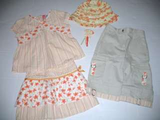 Gymboree Wildflower Fields Tiger Lily Shirt Skirt Capri Pants Hat