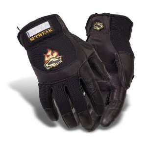 SetWear Pro Leather Gloves, Pair Large (Size 10