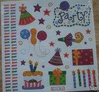 KID BOY GIRL BIRTHDAY CAKE PARTY EMBOSSED SCRAPBOOK KIT