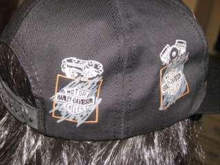 HARLEY DAVIDSON RARE VINTAGE LEGENDARY HAT CAP BLACK NEW