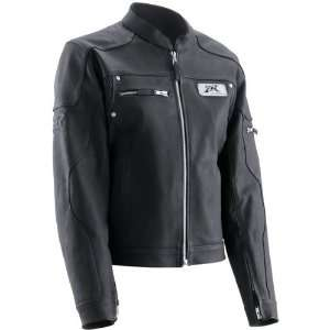 Z1R Womens Burlesque Leather Motorcycle Jacket Black Extra