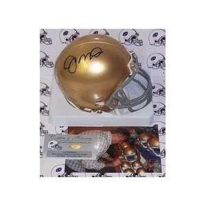 Joe Montana Autographed Notre Dame Fighting Irish Mini Football