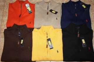 NWT NEW $115 Mens Polo Ralph Lauren Half Zip Sweater S M L XL 2XL