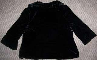 NWT LANE BRYANT BLACK VELVET JACKET BLAZER COAT SZ 14 16 18