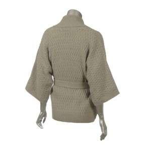 Sutton Studio Kimono Sleeve Wrap Cardigan Wool Blend