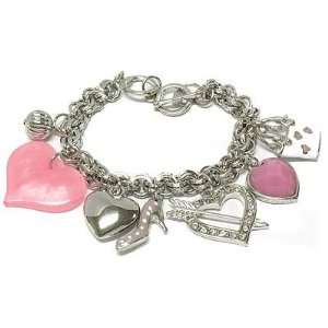 Juicy inspired pink heart, heels and handbags charm couture toggle