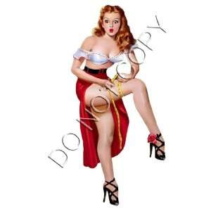 Sexy Vintage 50s Leggy Pinup Girl decal s81 Musical