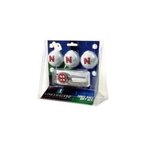 Nebraska Huskers NCAA 3 Ball Gift Pack w/ Kool Tool