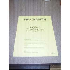 Touchmath Desktop Number Lines Touch Math Books