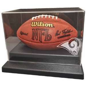 Football Display Case with Engraved NFL Team Logo Sports