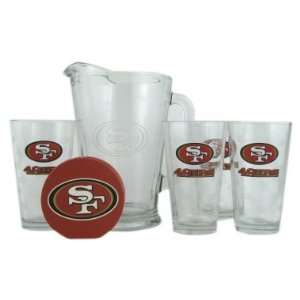 San Francisco 49ers Pint Glasses and Beer Pitcher Set  San Francisco