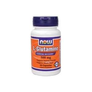 L Glutamine 60 Caps 500 Mg ( Free Form Amino Acid )   NOW