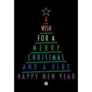 Word Christmas Tree   Boxed Holiday Christmas Greeting