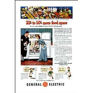 1951 Vintage Ad General Electric Refrigerators: Everything