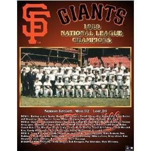San Francisco Giants    NL Champs 1989 San Francisco Giants    11 x 13