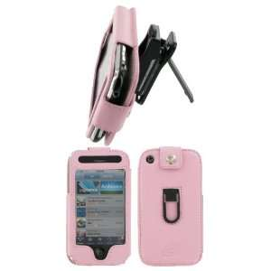 com Apple iPhone 3G   Pink Premium Leather Case with Removable Video