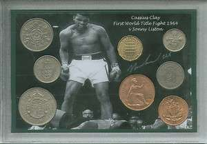 Clay Muhammad Ali First Title Fight Vintage Boxing Coin Gift Set 1964