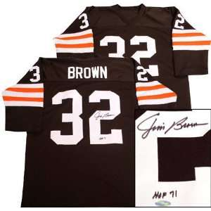 Jim Brown Cleveland Browns Autographed Away Jersey Sports