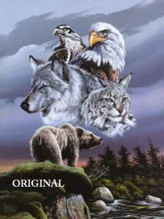Wolf Eagle Hawk Bear Lynx Cross Stitch Native American