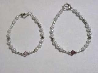 Mother/Daughter Matching Crystal Birthstone Bracelets